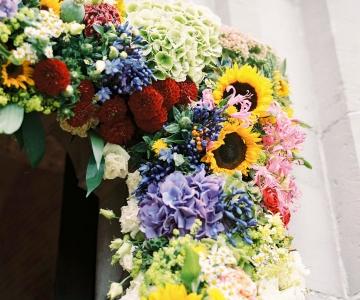 Detail bloemenkader